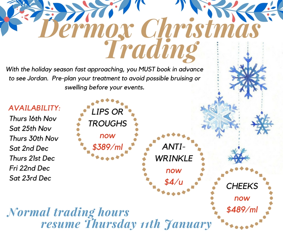 Dermox Christmas Trading Hours (1)